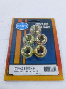 Wheel Nuts (Porsche style), M14-1.5 (set of 5)