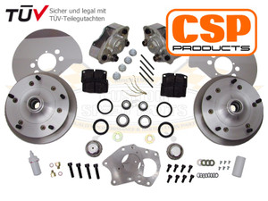 CSP 5 x 205 Front Disc Brake Kit, Beetle and Karmann Ghia up to 1965 CB SPINDLES