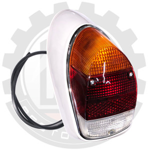 COMPLETE REAR LIGHT ASSY, LH, AMBER, CLEAR AND RED LENS