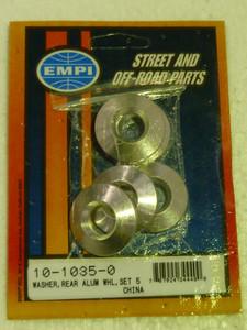 Tapered Wheel Bolt Aluminium Washers, Set of 5