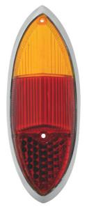TAILLIGHT LENS KARMANN GHIA 60-69 AMBER/RED