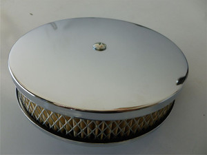 AIR FILTER COMPLETE ROUND CHROME PAPER ELEMENT