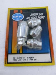 Chrome Wheel Locks, M12-1.5, Acorn Nut (set of 4)