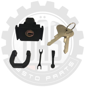 GLOVE BOX LOCK WITH KEYS, PINCH RELEASE STYLE