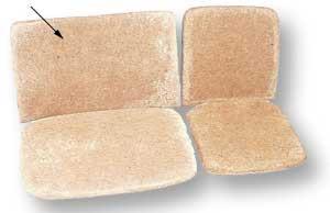 HAIR SEAT PAD, 2/3 SEAT BACKREST