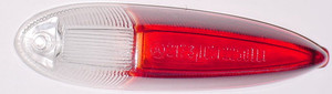 SIDE MARKER LENS TYPE 3 CLEAR / RED