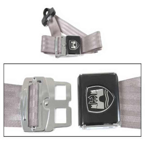 3-POINT NON-RETRACTABLE SEAT BELT GREY