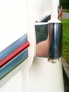 Hinge Covers, Bus through 1967 (PAIR)