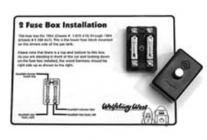 FUSE BOX, BUG 54-59, 2 TERMINAL