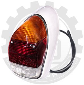 COMPLETE REAR LIGHT ASSY, RH, AMBER, CLEAR AND RED LENS