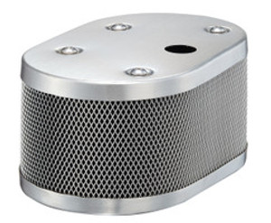 CLASSIC STYLE OVAL MESH AIR CLEANER SET FOR IDF AND DELLORTO WITH BREATHER HOLE.