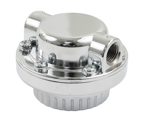 Fuel Pressure Regulator, Chrome with Bracket