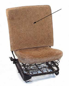 HAIR SEAT PAD, FRONT SEAT BACKREST, 65-67 BUG