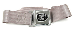 MIDDLE SEAT BELT BUS (CHROME BUCKLE, GREY)