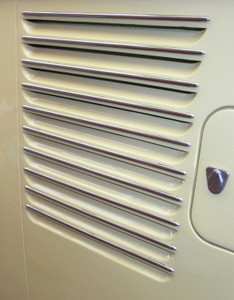 Deluxe Vent Trims (Inward Vents), Bus