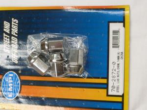 CHROME STEEL LUG NUTS 60 DEG SEAT, 14mm
