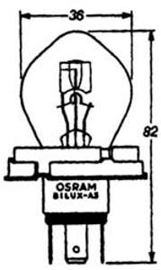 Headlight Bulb 6 Volt, Late Euro Style