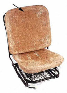 Front Seat Backrest Hair Pad, Beetle 1956-1964 (Fits Left and Right, Sold Individually)