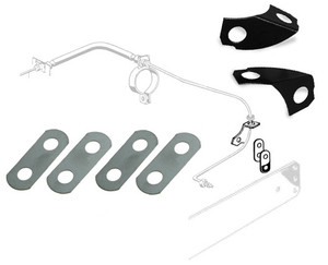 BRAKE LINE/REAR TRAILING ARM LOCK PLATE KIT