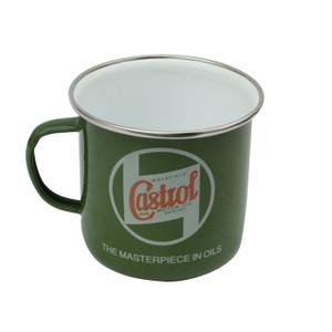 Castrol Classic Green Enamelled Tin Mug