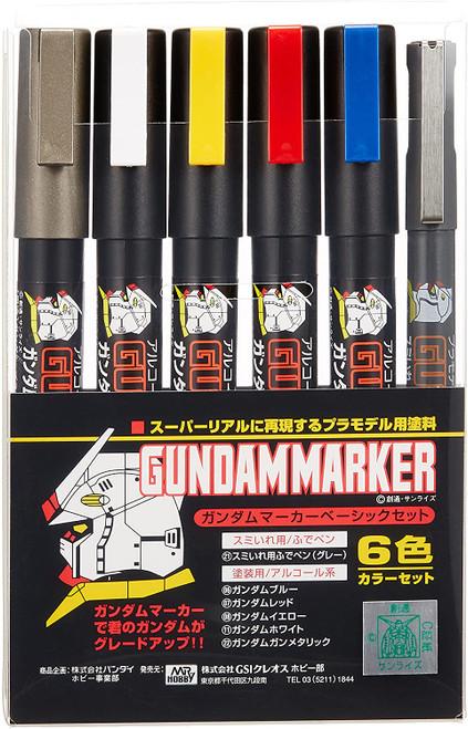 Gundam Marker Basic 6 Colour Set