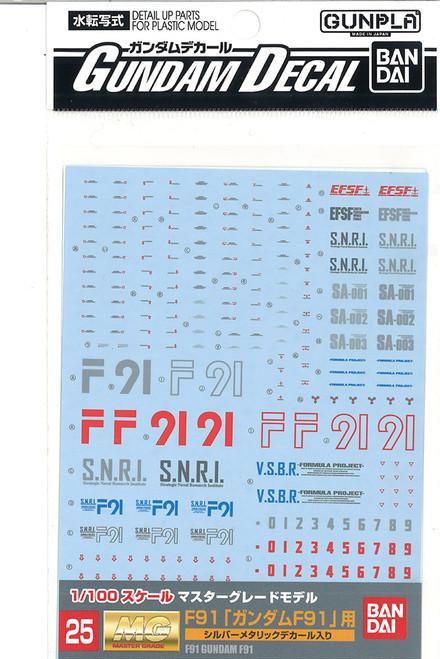 Gundam Decal 25 MG F91 General