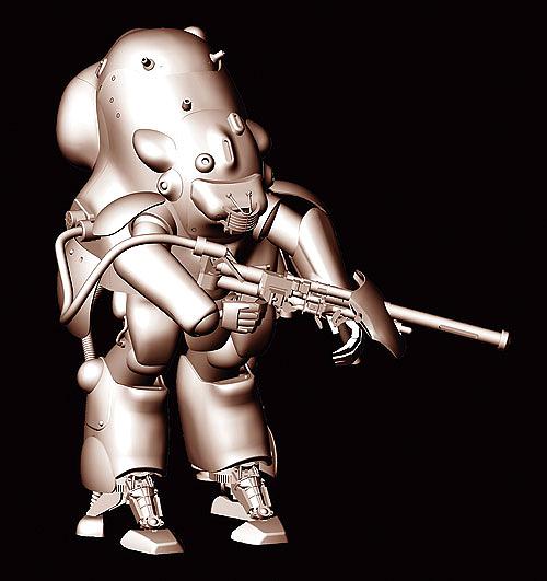 1/20 Robot Battle V Maschinen Krieger Moon Type MK44 Ausf.H Whiteknight