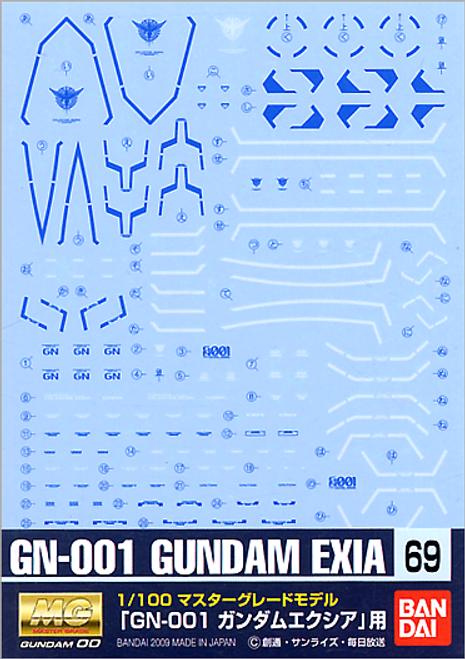 Gundam Decal 69 MG Gundam Exia