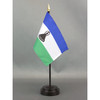 "Lesotho Stick Flag 4""x6"" E-Gloss, 12 Pack"