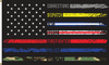 First Responders American Flag, 2' x 3', Printed Nylon with Header & Grommets, Front