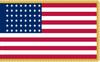 48 Star American Flag, 1912-1959 Old Glory (48), 4' x 6' with Pole Hem and Gold Fringe