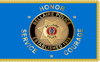 Custom Digital Single Reverse 4' X 6' w/Pole Hem and Gold Fringe Bellaire Police Department Flag