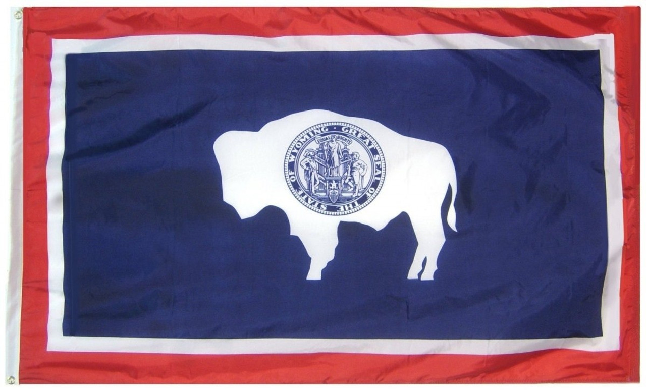 Us State Of Wyoming Flag 2ft X 3ft Wy2x3 Eagle Mountain Flag