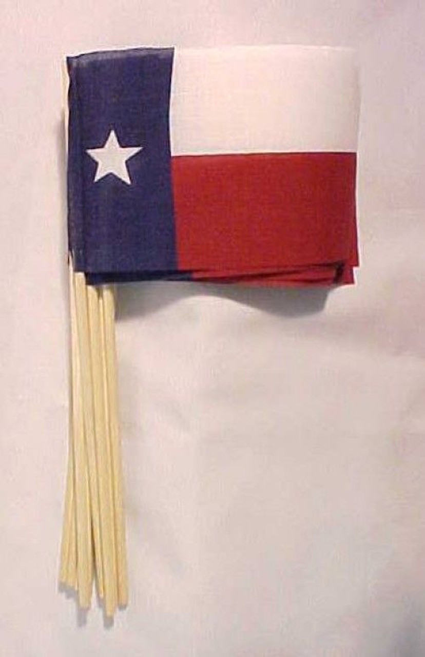 Texas Flag, Stick Flag, Handheld, 4in x 6in, HHTX4X6