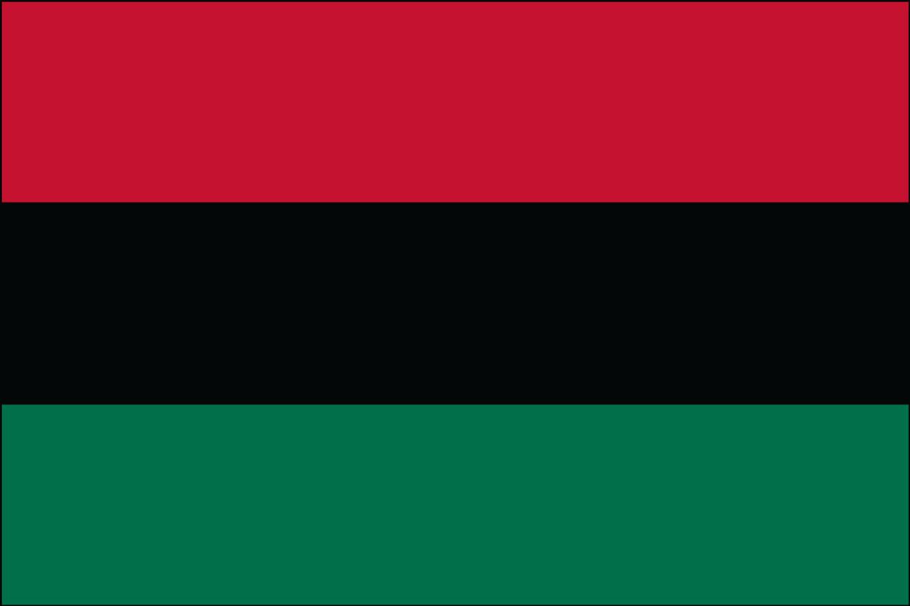 Afro-American Outdoor Flag  Nylon