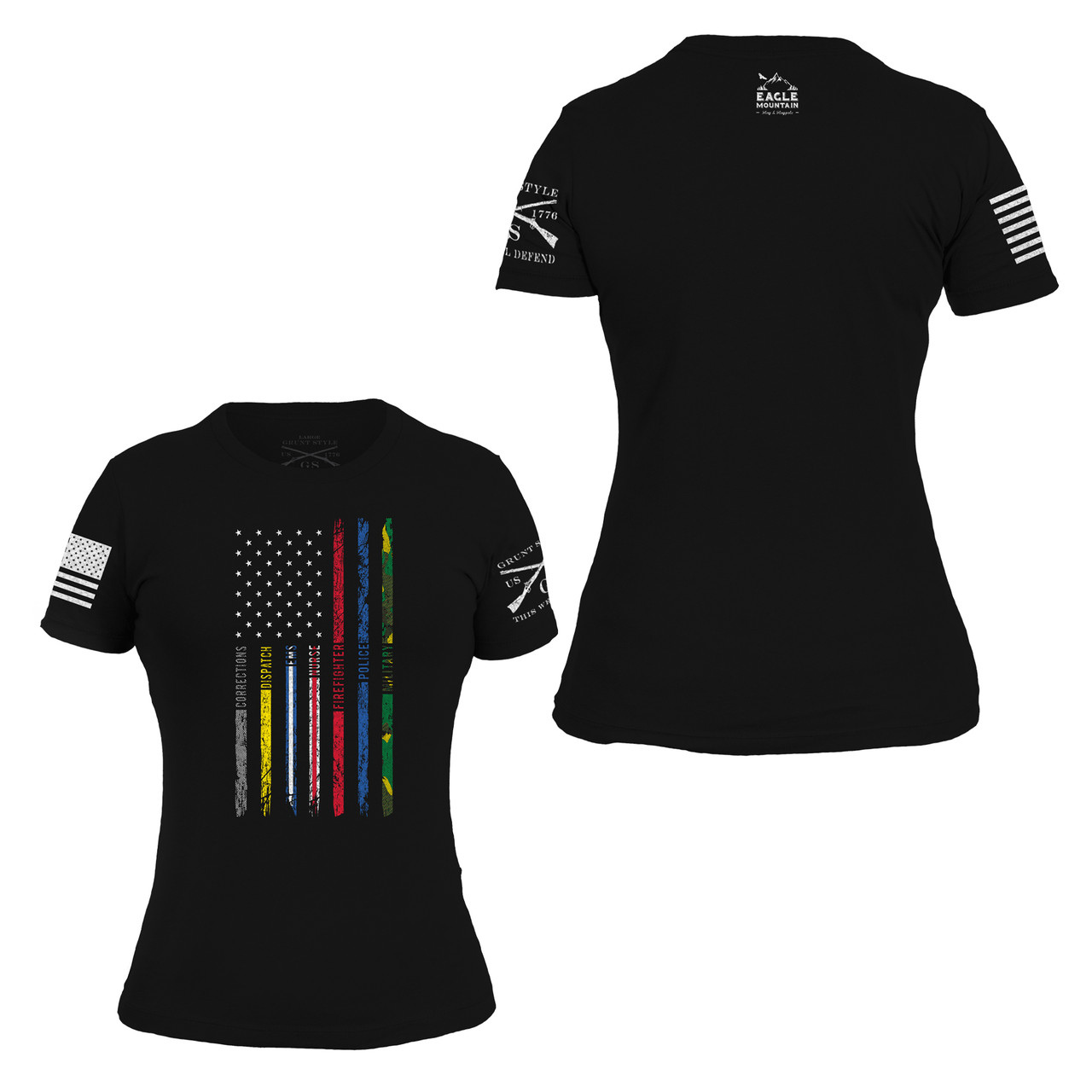 Women's First Responders Flag T-Shirt by Grunt Style