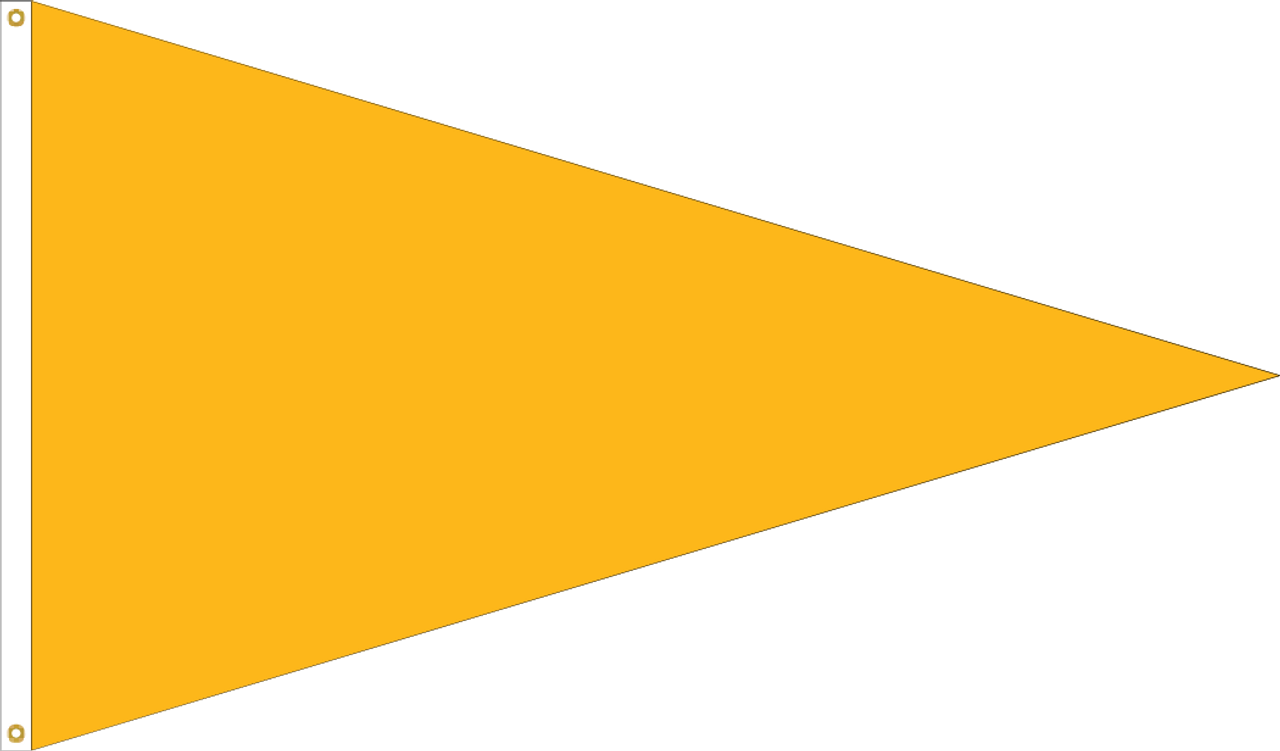 Solid Color Pennant Flag, Nylon with Header & Grommets