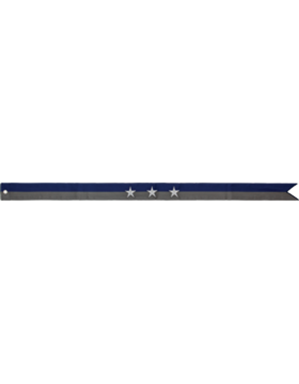 "Battle Streamer for U.S. Navy Flag, 2 3/4"" x 3', Civil War Campaign"