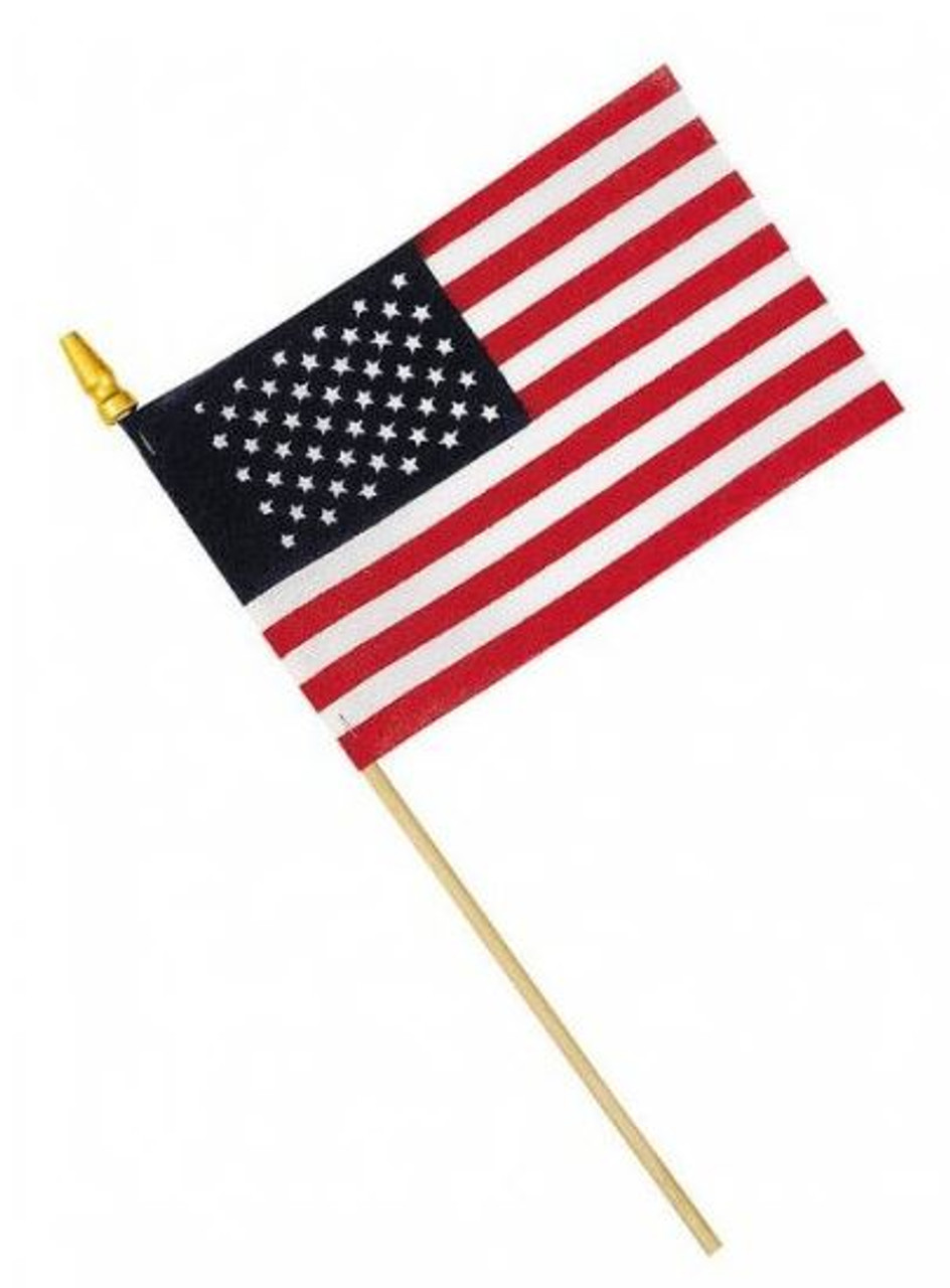 American Flag, Stick Flag, Handheld, 4in x 6in, HHUS4X6