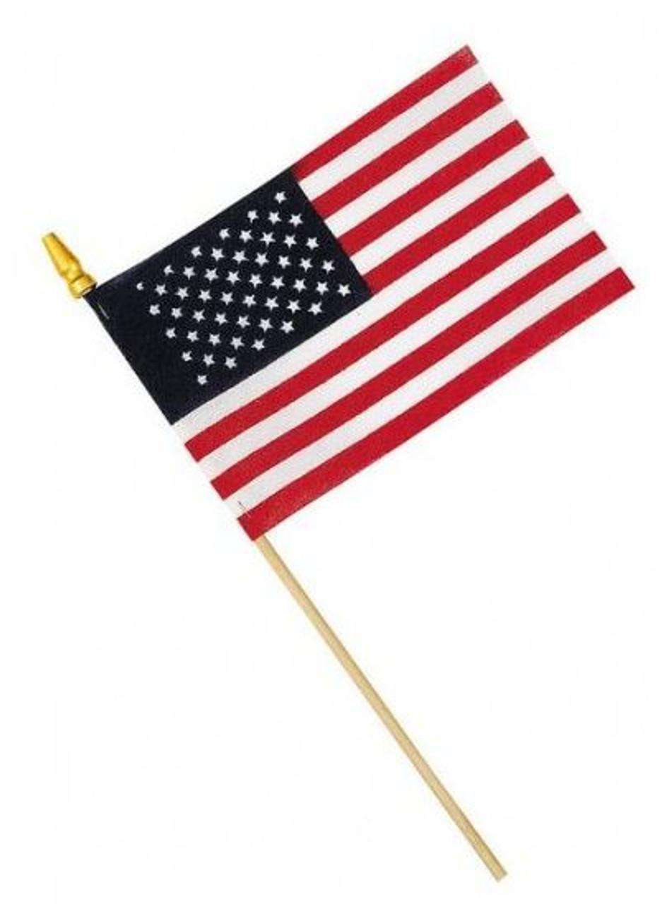 American Flag, Stick Flag, Handheld, 4in x 6in, HHUS4X6