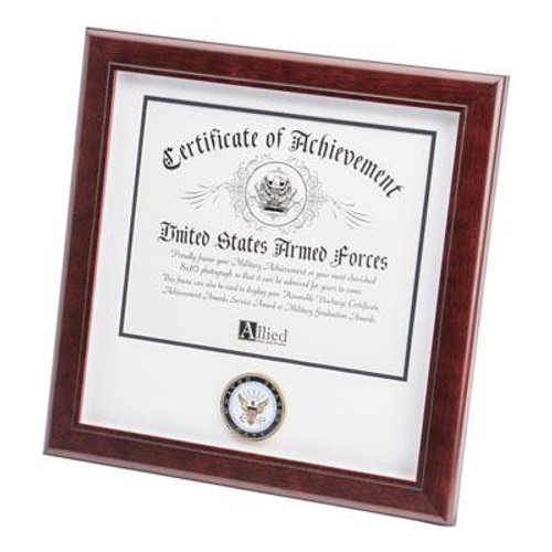 Frame, Certificate of Achievement, 12in x 12in, CERTIFICATEOFACHMILITARY