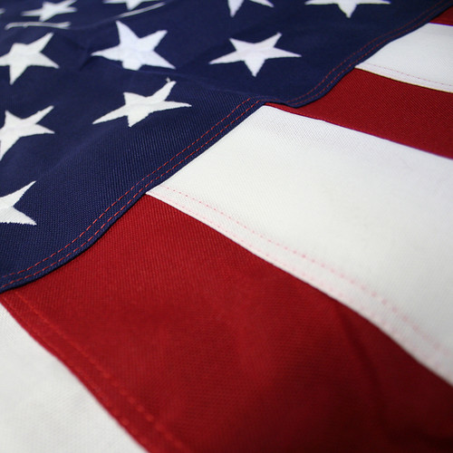 Extra-Tough's look very similar to Cotton flags. Embroidered Stars and Sewn Stripes.