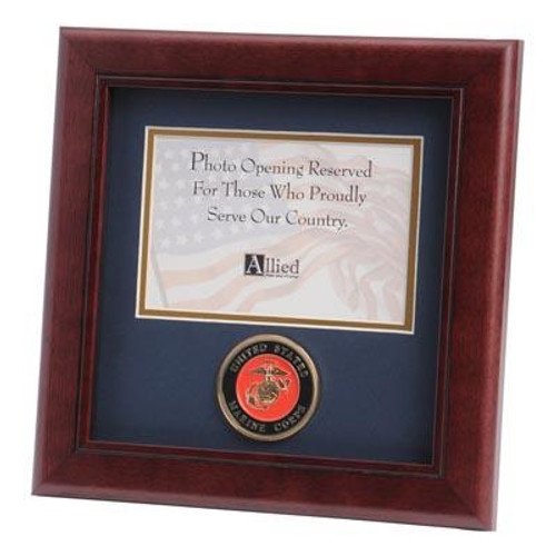 Frame, Picture, Service Medallion, 8in x 8in, MedallionMilitary8x8