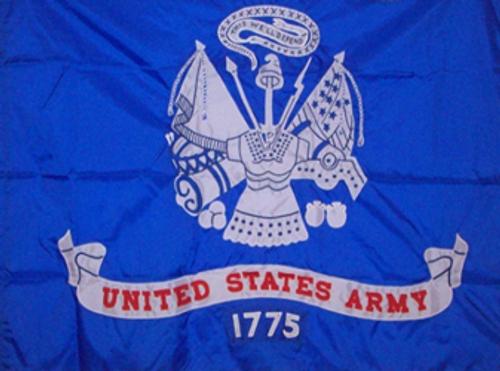 US Army Field Flag, 3' x 4', Appliqued Nylon with Pole Hem