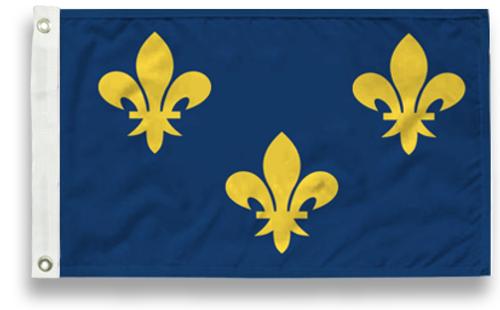 Blue Fleur-De-Lis