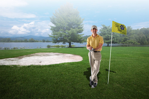 """Golf Flag with Tube (Single-Sided) Size 14"""" X 20"""""""