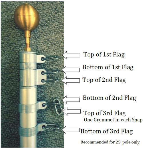 Third Flag Kit for 25' Titan Telescoping Flagpoles