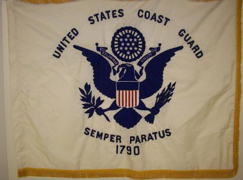 "Coast Guard Flag, Appliqued Nylon 4'4"" x 5'6"""