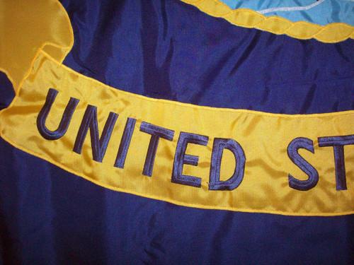 "Navy Indoor Flag, Nylon Applique 4'4"" x 5'6"" with Pole Hem, M022-1040453 (Open Market)"
