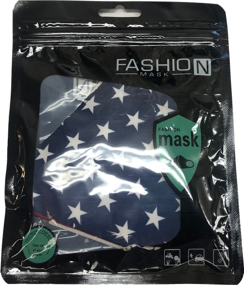 American Flag Design Face Mask with PM2.5 Filter Insert